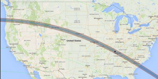Track of 2017 Eclipse